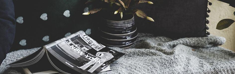 Het dakterras in zwart-wit