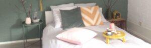 Lente styling in de slaapkamer