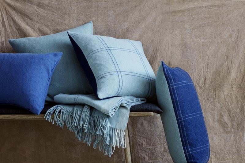 kussens blauw Elvang alpacawol