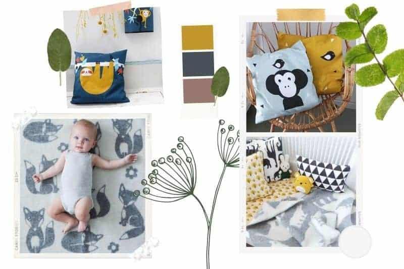 babykamer grijs geel inspiratie
