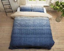 Dekbedovertrek Indigo Knit Bleu
