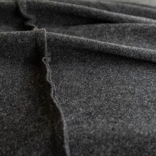 Sprei antraciet grijs wol