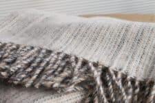 beige plaid wol