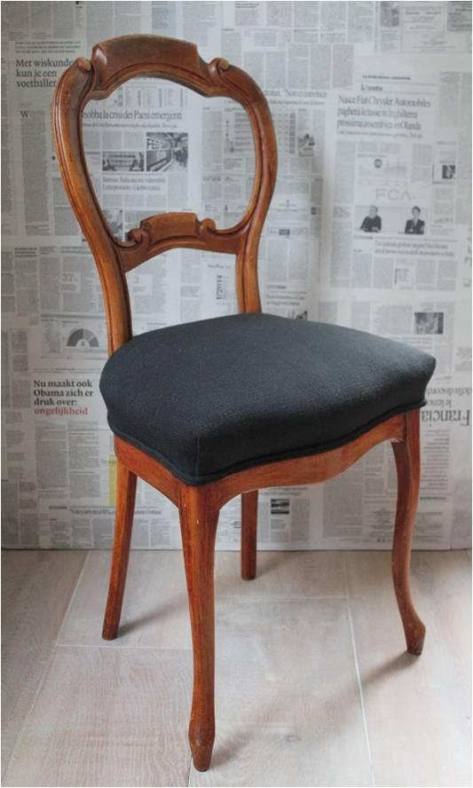 beklede stoel grijs