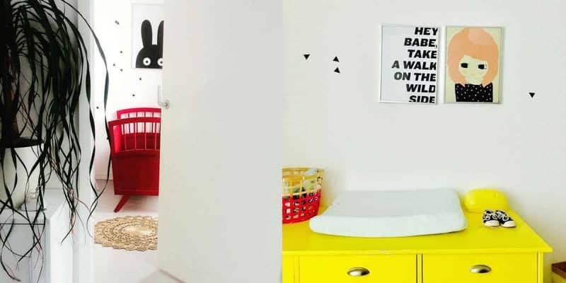 babykamer rood geel