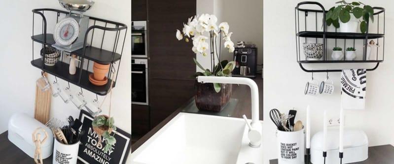 binnenkijken zwart-wit keuken