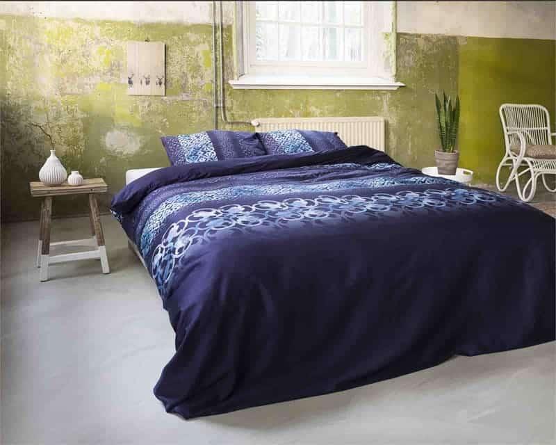 blauw dekbedovertrek slaapkamer