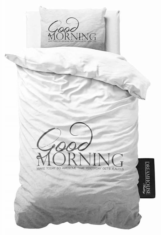 Dekbedovertrek Good Morning antraciet - 1 persoonsmaat