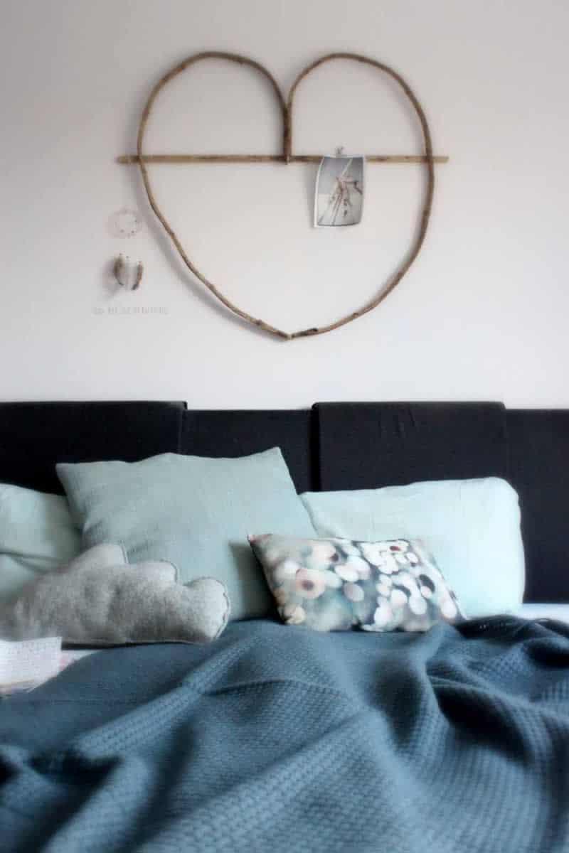 deken bed blauw