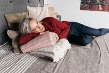 deken tweepersoonsbed bruin wol