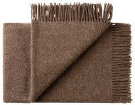 Deken wol: bruin 2 persoonsbed
