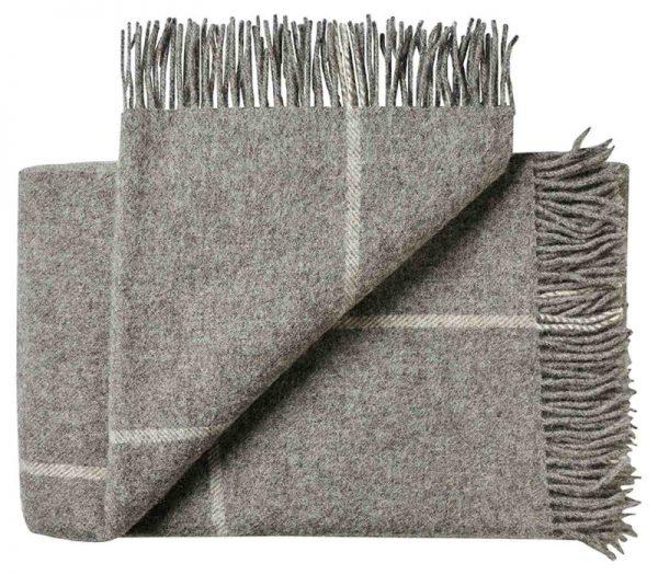 Deken wol: grijs ruiten