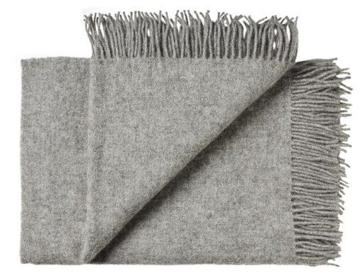 Deken wol: grijs 2 persoonsbed