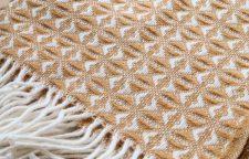 gele plaid wol tweedmill cobweave