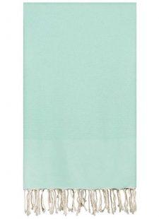 mintgroene plaid grand foulard katoen