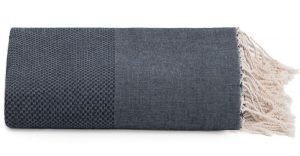 Plaid of grand foulard donkerblauw katoen