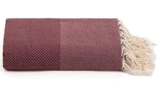 Plaid of grand foulard bordeauxrood katoen