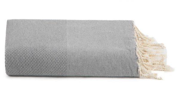 Plaid of grand foulard grijs katoen