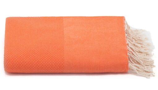 Plaid of grand foulard oranje katoen