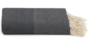 Plaid of grand foulard zwart katoen