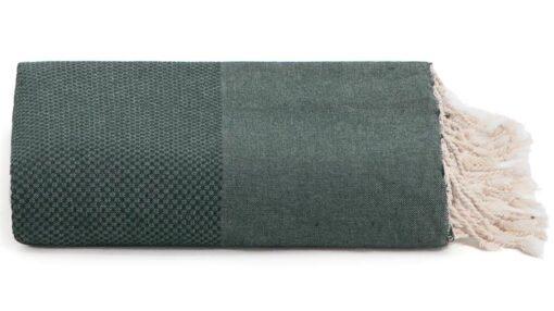 Plaid of grand foulard groen katoen
