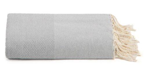 Plaid of grand foulard lichtgrijs katoen