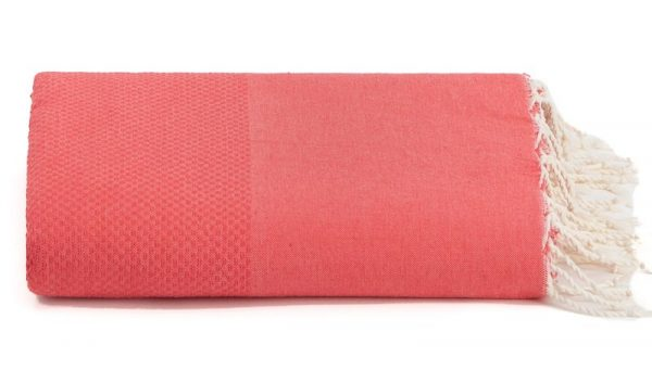 Plaid of grand foulard koraal katoen