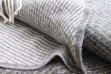 grijze plaid klippan wol