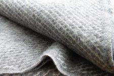 grijze plaid wol klippan