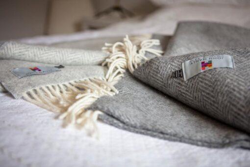 grijze plaids cashmere visgraat