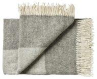 Deken wol: twee kleuren grijs