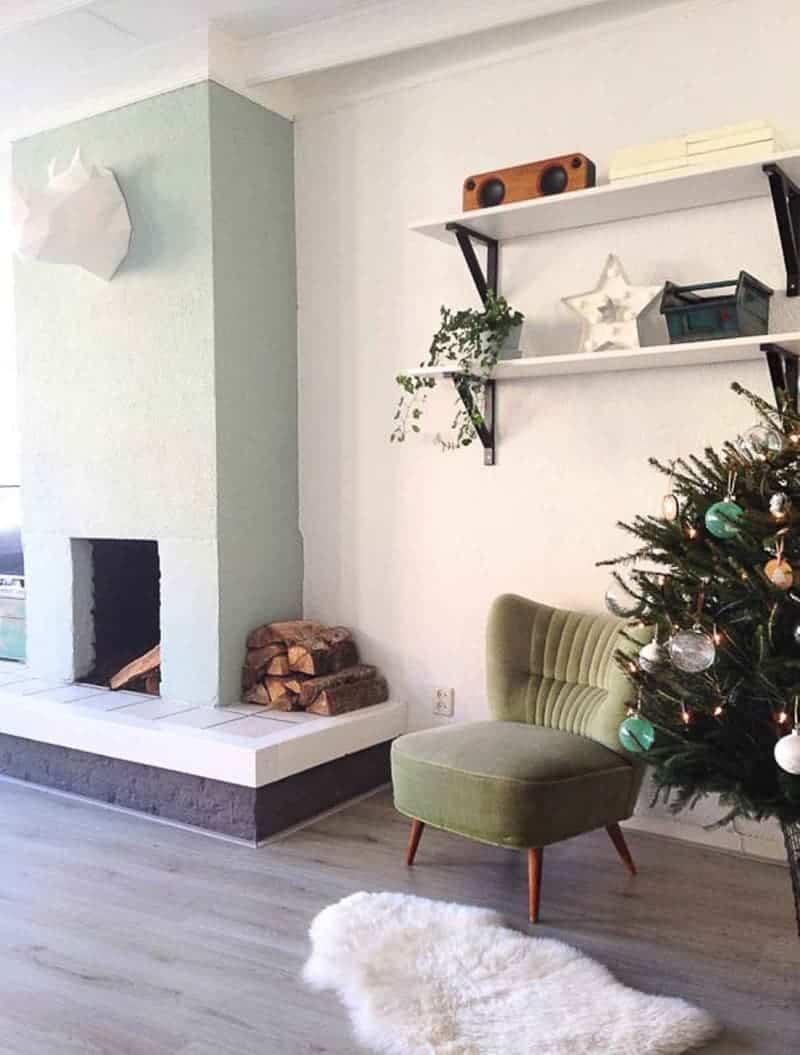 groen stoeltje kerstboom