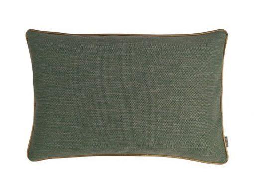 Kussen groen met piping randje
