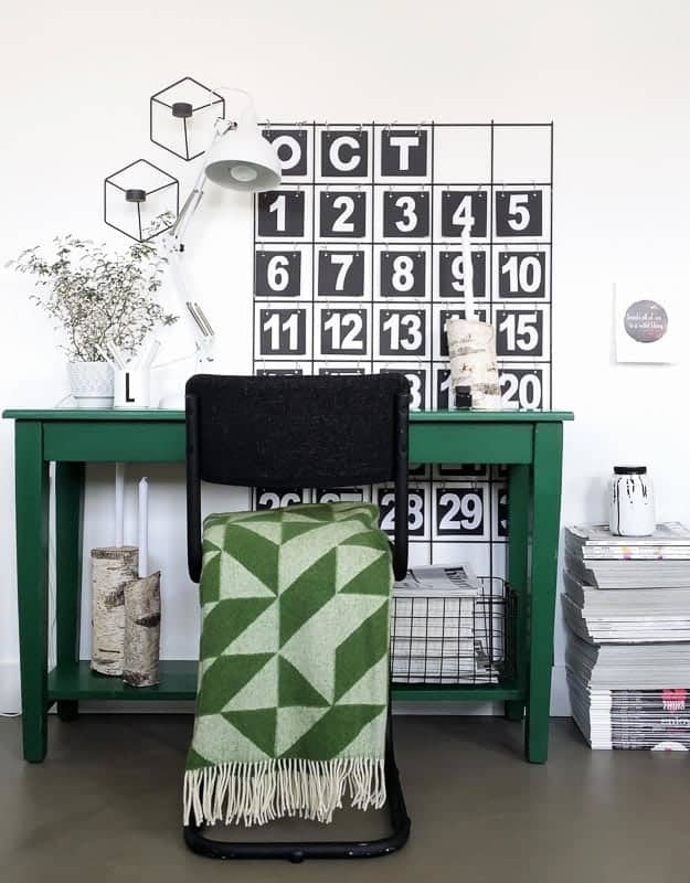 groene plaid merinowol