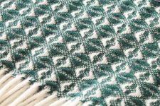 groene plaid wit wol