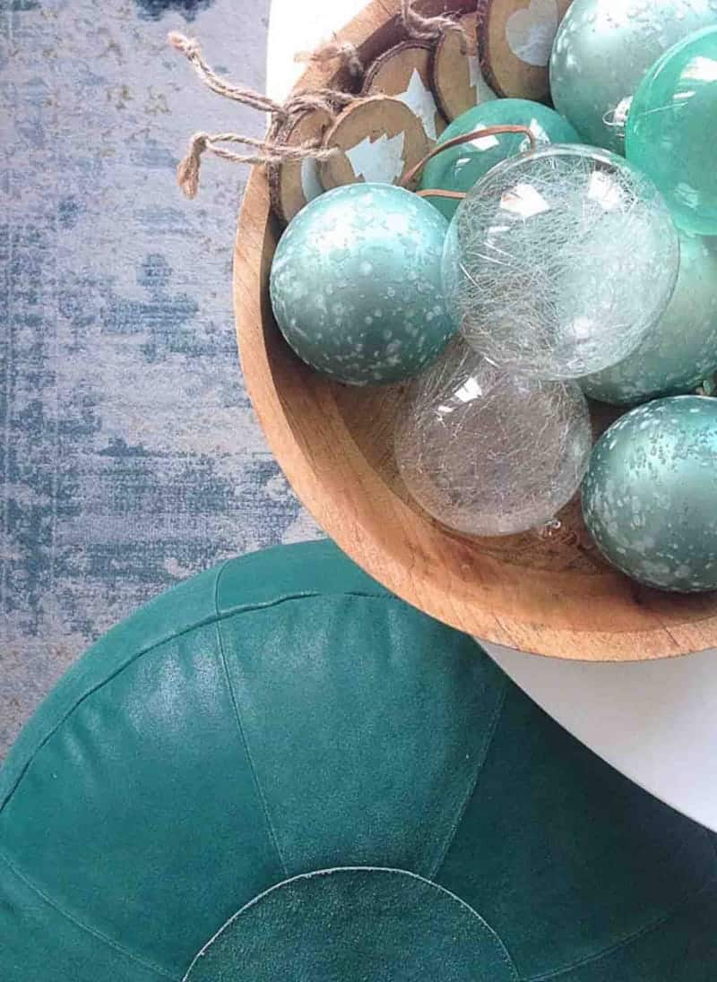 kerstballen blauw