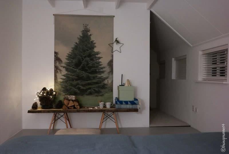 kerstboom slaapkamer avond