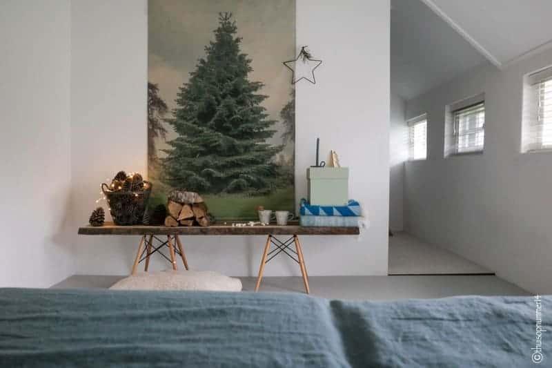 kerstboom slaapkamer