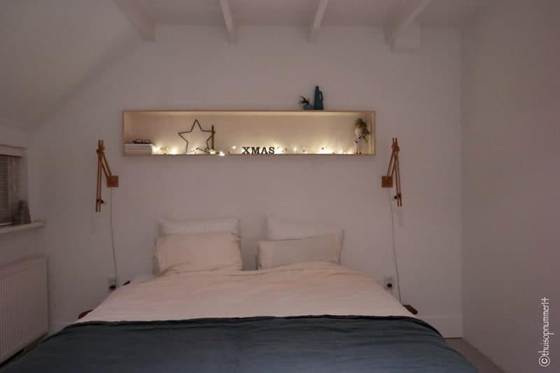 kerstlichtjes slaapkamer avond