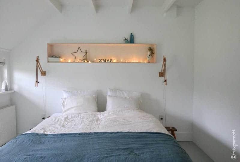kerstlichtjes slaapkamer