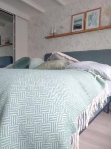 klippan plaid mintgroen lamswol