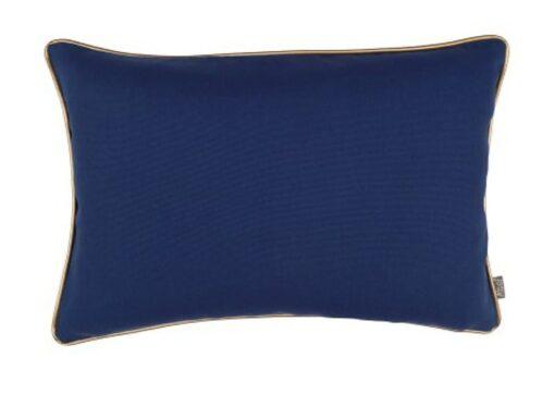 Kussen blauw met piping rand
