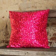 kussen fuchsia roze kristal raaf