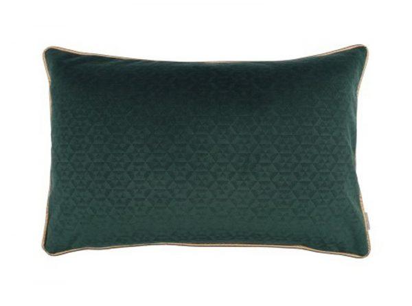 Kussen groen met piping Joyce