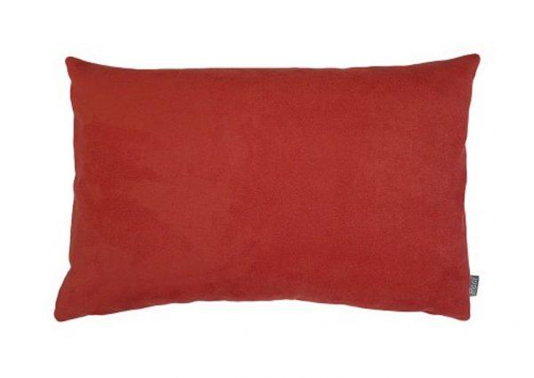 Kussen rood suedine (soort leer)