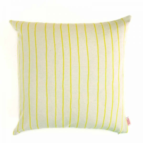 Kussen geel strepen Simple Stripe