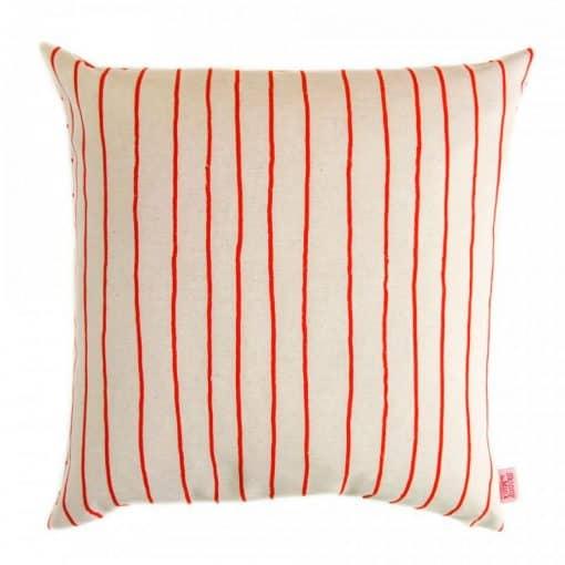 Kussen rood strepen Simple Stripe