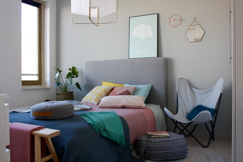 kussens plaids kleurrijk slaapkamer
