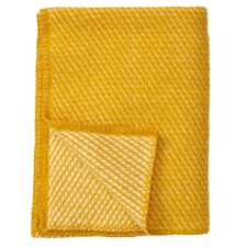 ledikantdeken geel wol klippan