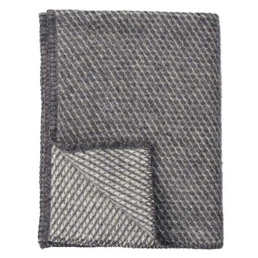 ledikantdeken grijs wol klippan